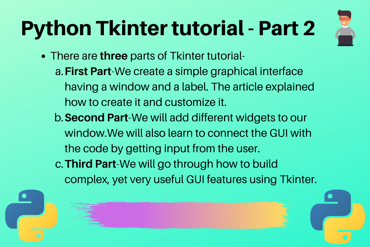 Python Tkinter Tutorial Part2