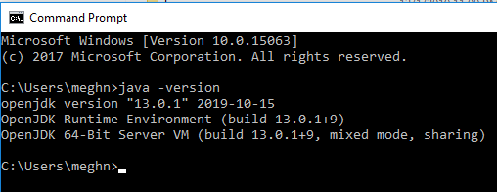 Check Java Version Command Prompt