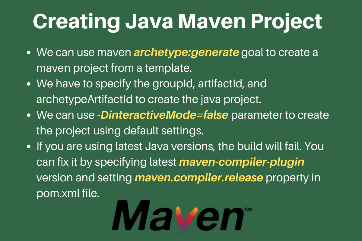 Creating Java Project Maven Archetypes