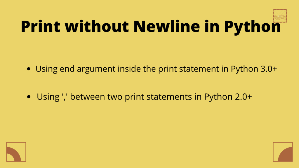 Print Without Newline In Python