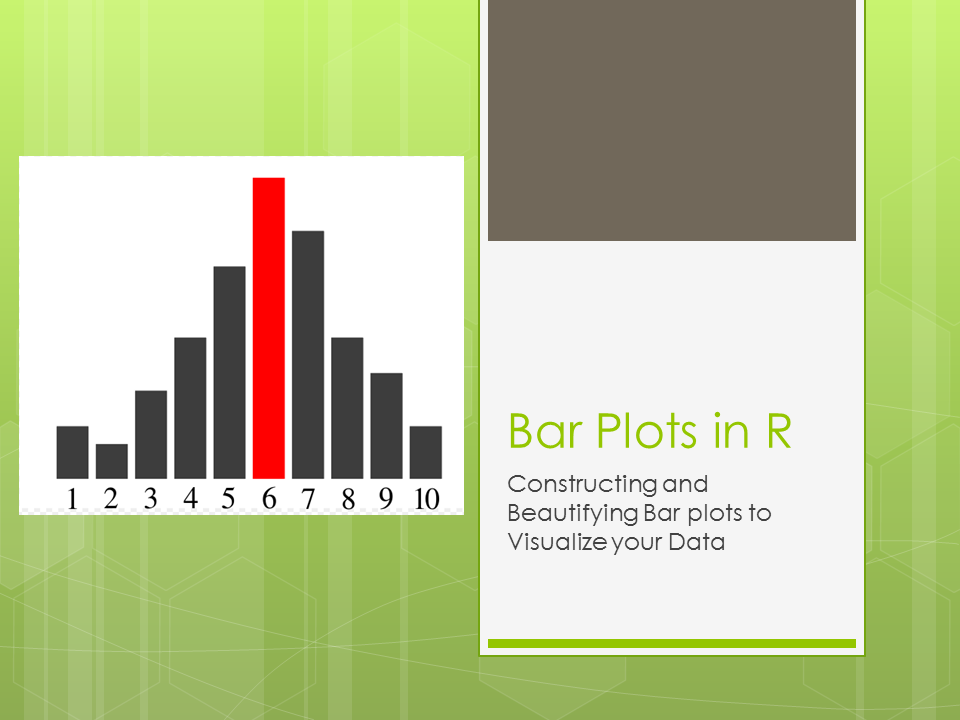 Bar Plots In R