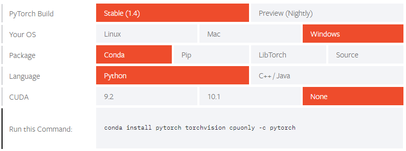 PyTorch Installation 1