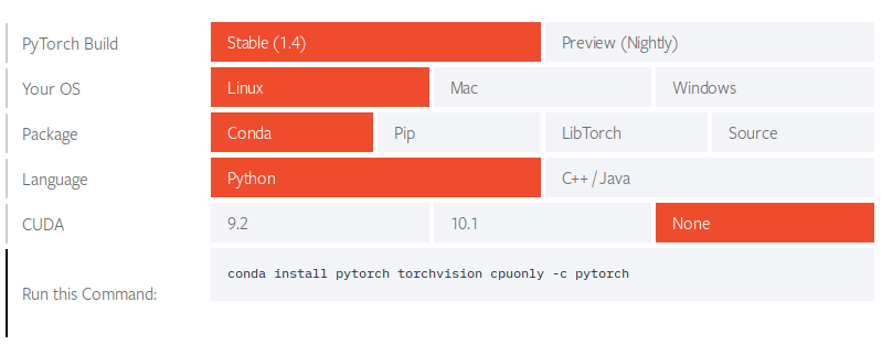 PyTorch Linux