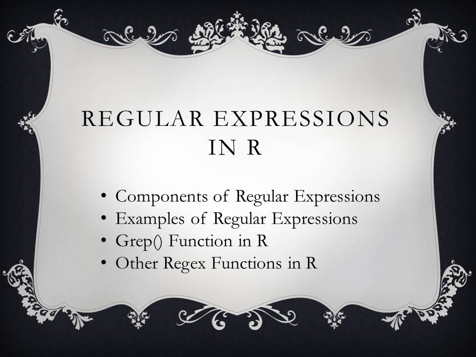 Regular Expressions In R