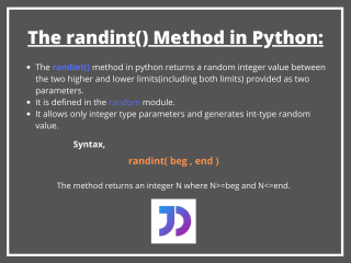 The Randint() Method In Python