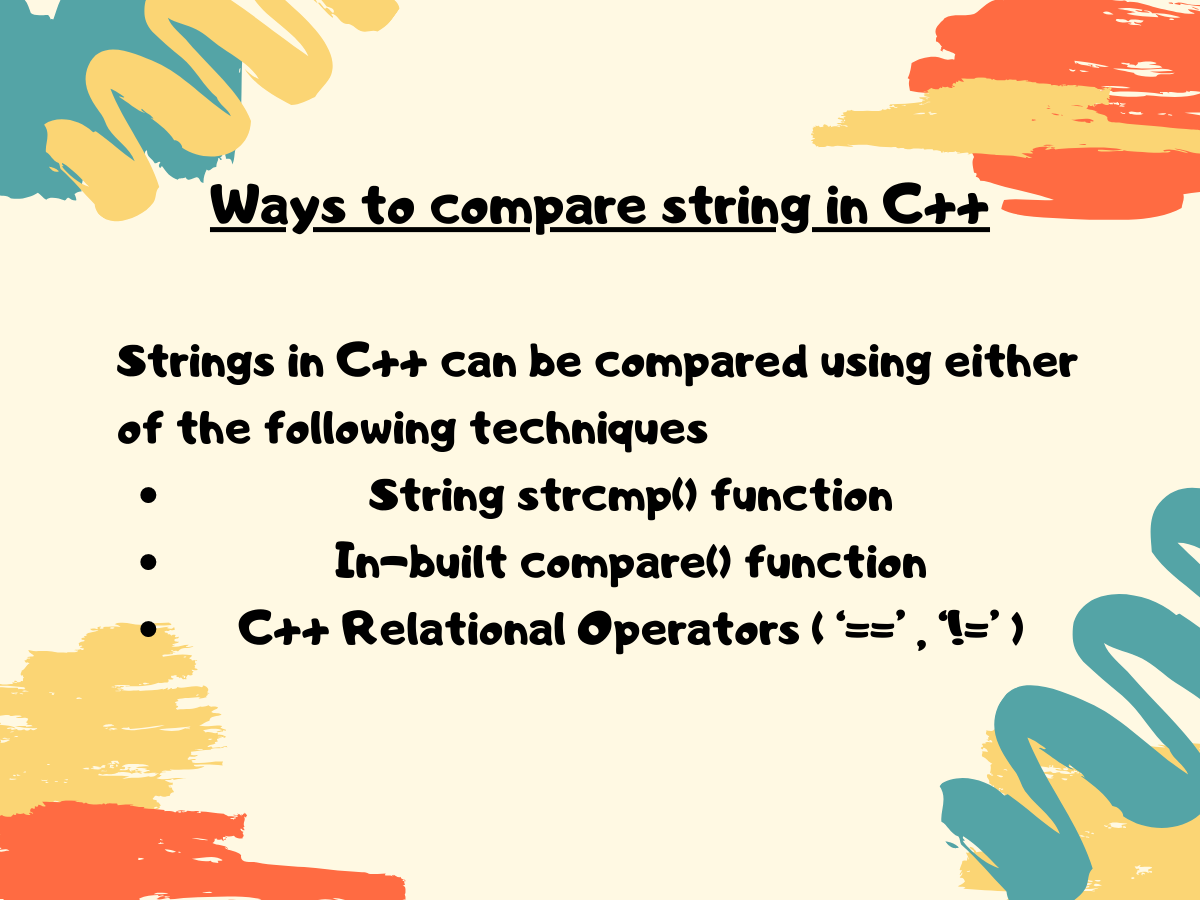 Ways To Compare String In C
