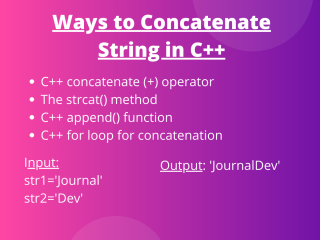 Ways To Concatenate String In C