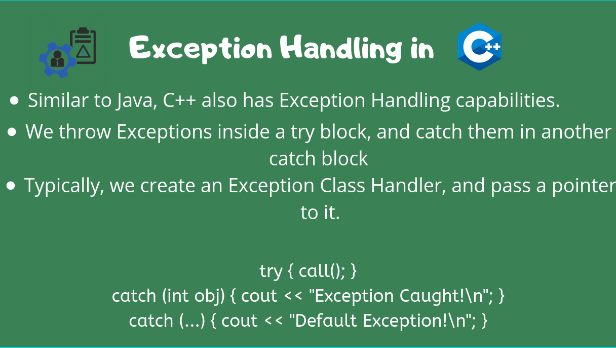 Exception Handling Cpp