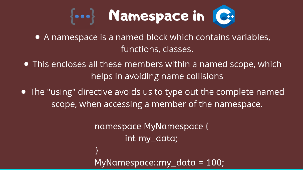 Namespace Cpp
