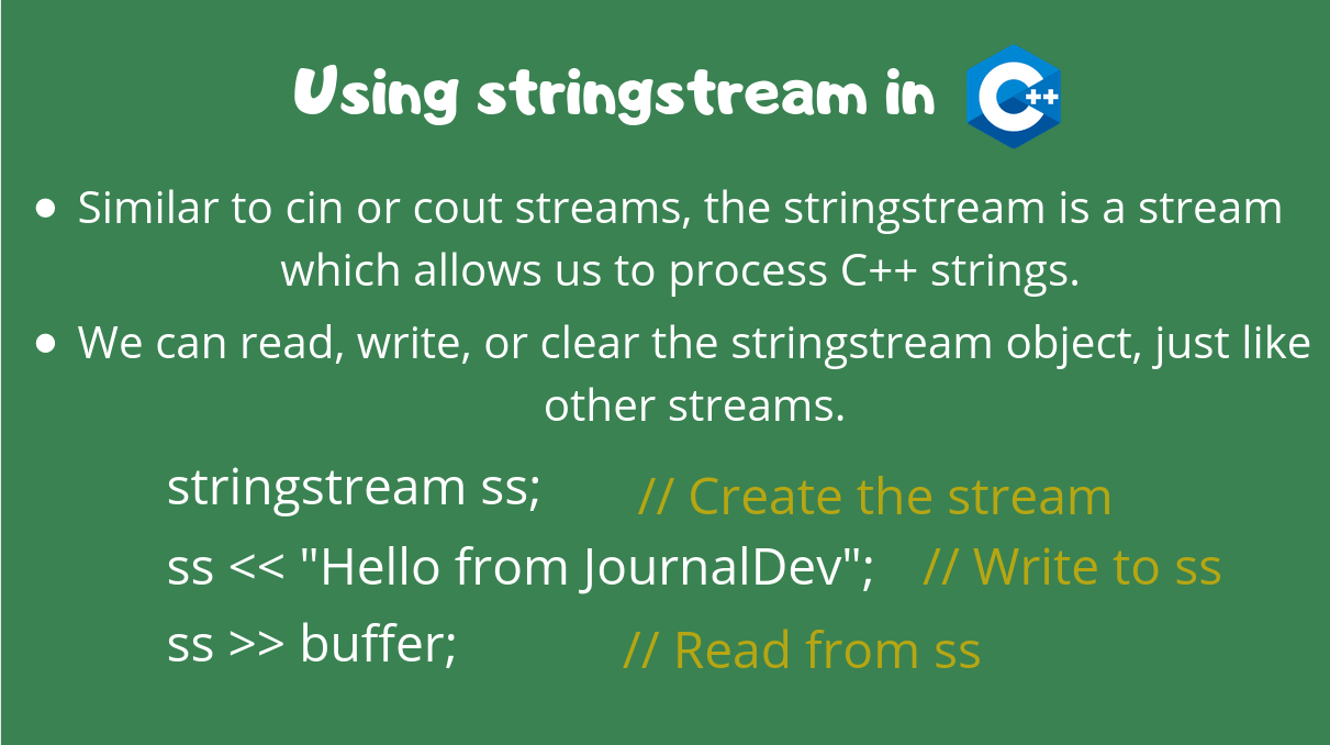 Stringstream Cpp