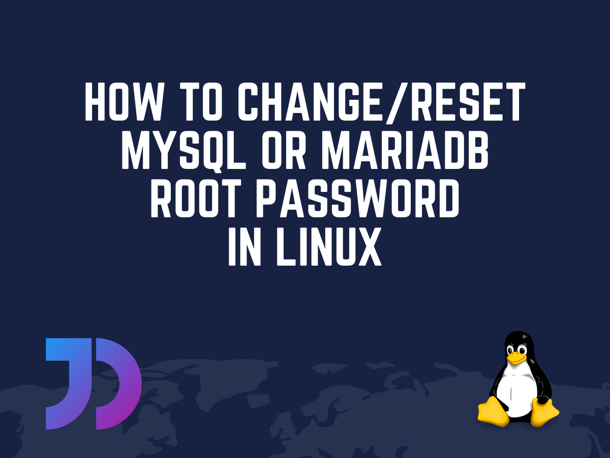 Change Reset Mysql Mariadb Root Password