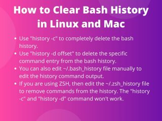 Clear Bash History