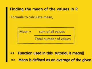 Finding The Mean In R