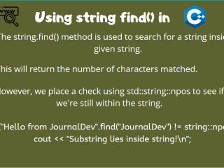 String Find Cpp