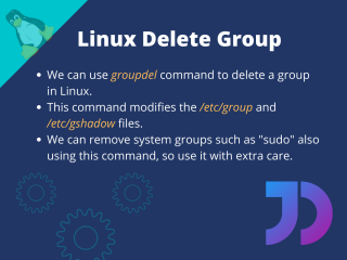 Linux Delete Group