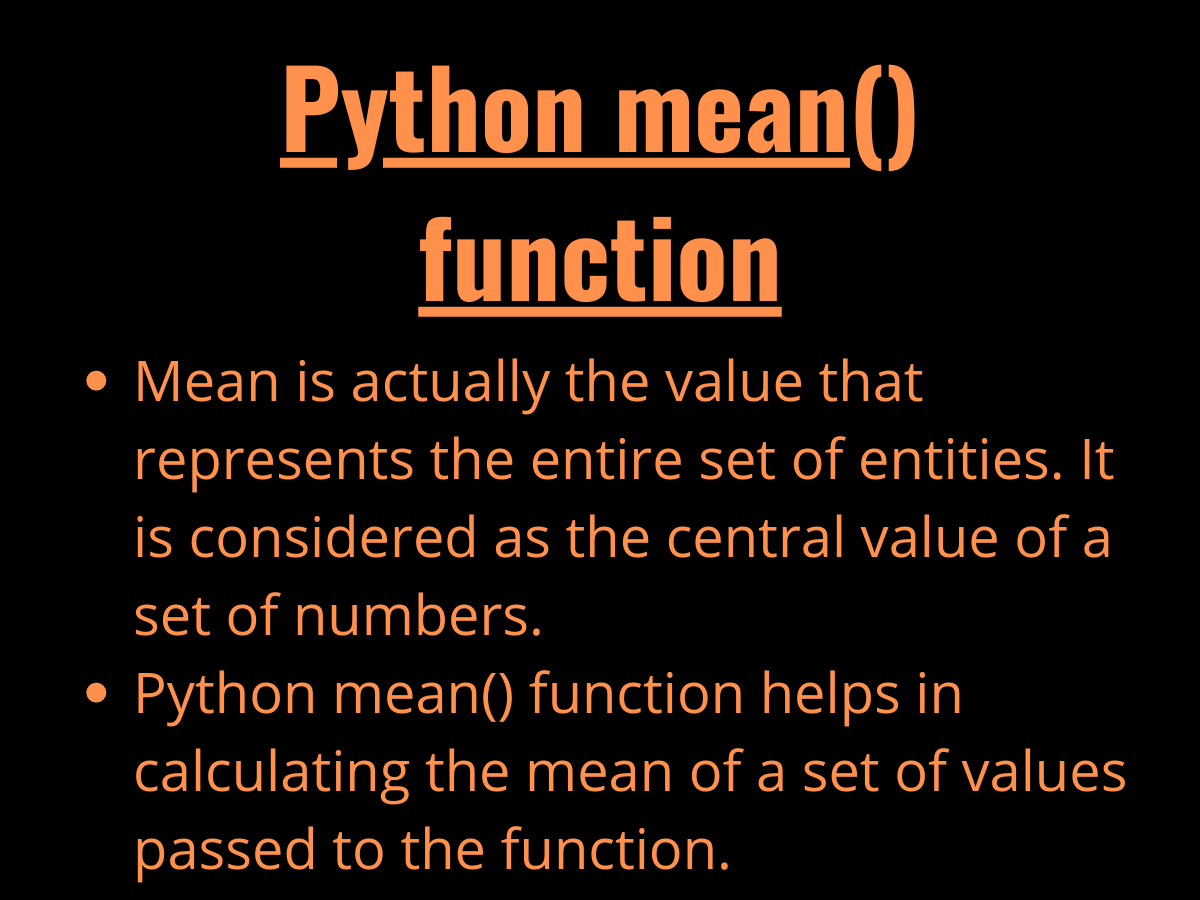 Python Mean() Function