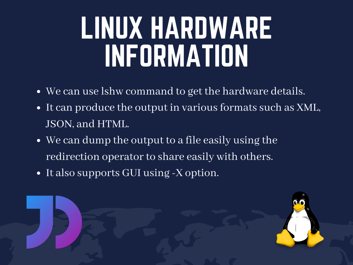 Linux Hardware Information Lshw Command