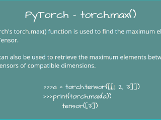 Pytorch Torch Max