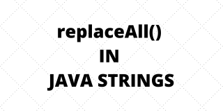 Java replaceAll() statement