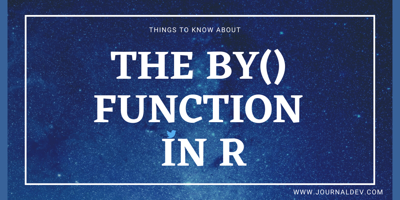 The By() Function In R