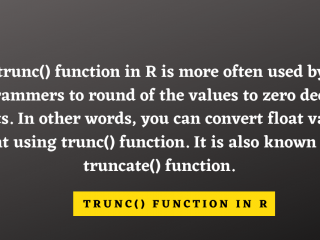 Trunc() Function In R