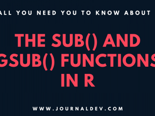 The Sub() And Gsub() Functions In R