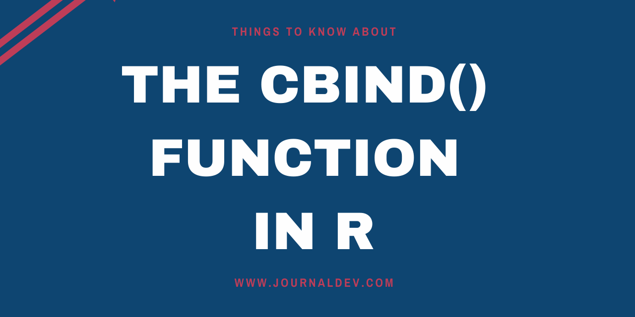 The Cbind() Function In R