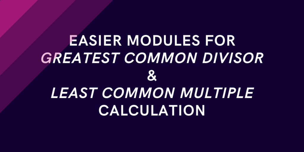 GCD And LCM Calculation