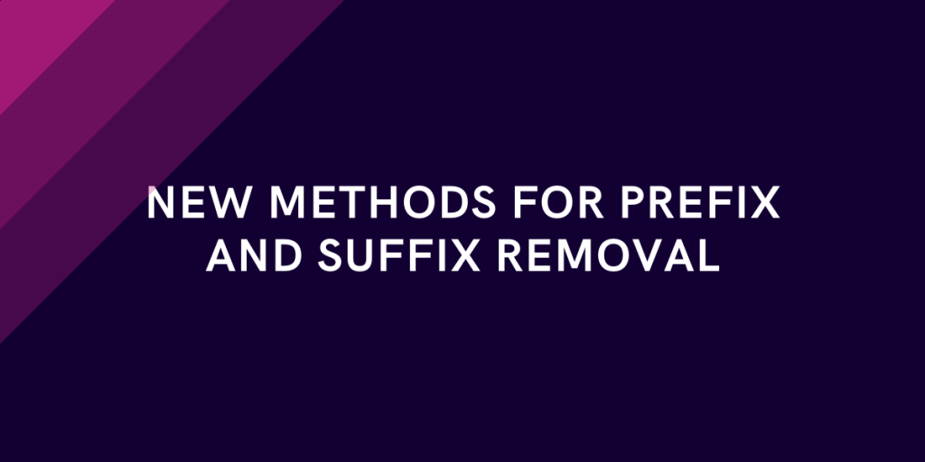 String Methods To Remove Prefix And Suffix