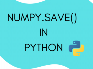 Numpy.Save() in Python
