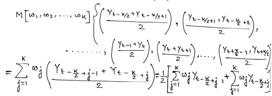 Solving The Moving Average Operator