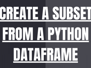 CREATE A SUBSET FROM A PYTHON DATAFRAME