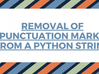 REmoval Of Punctuation Marks From A Python String