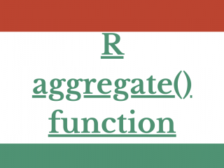 R Aggregate() Function