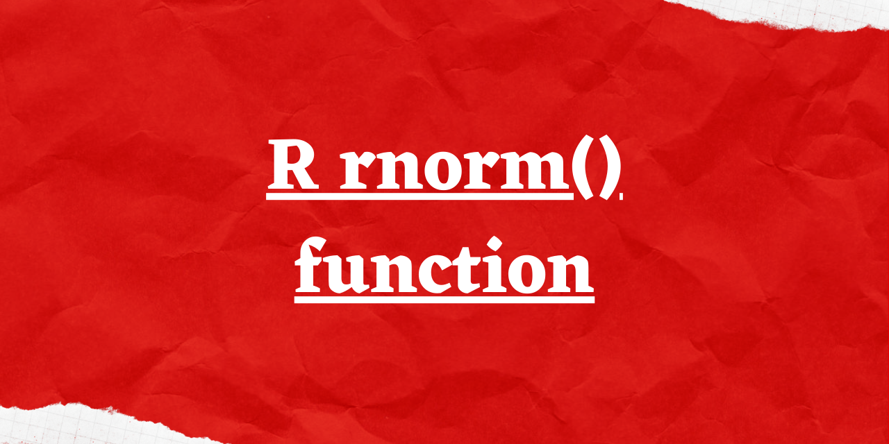 R Rnorm() Function