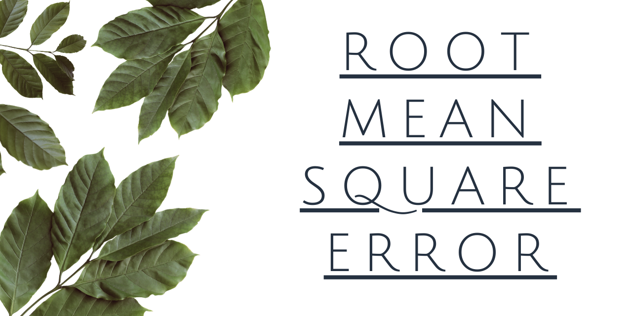 Root MEAN Square Error In R