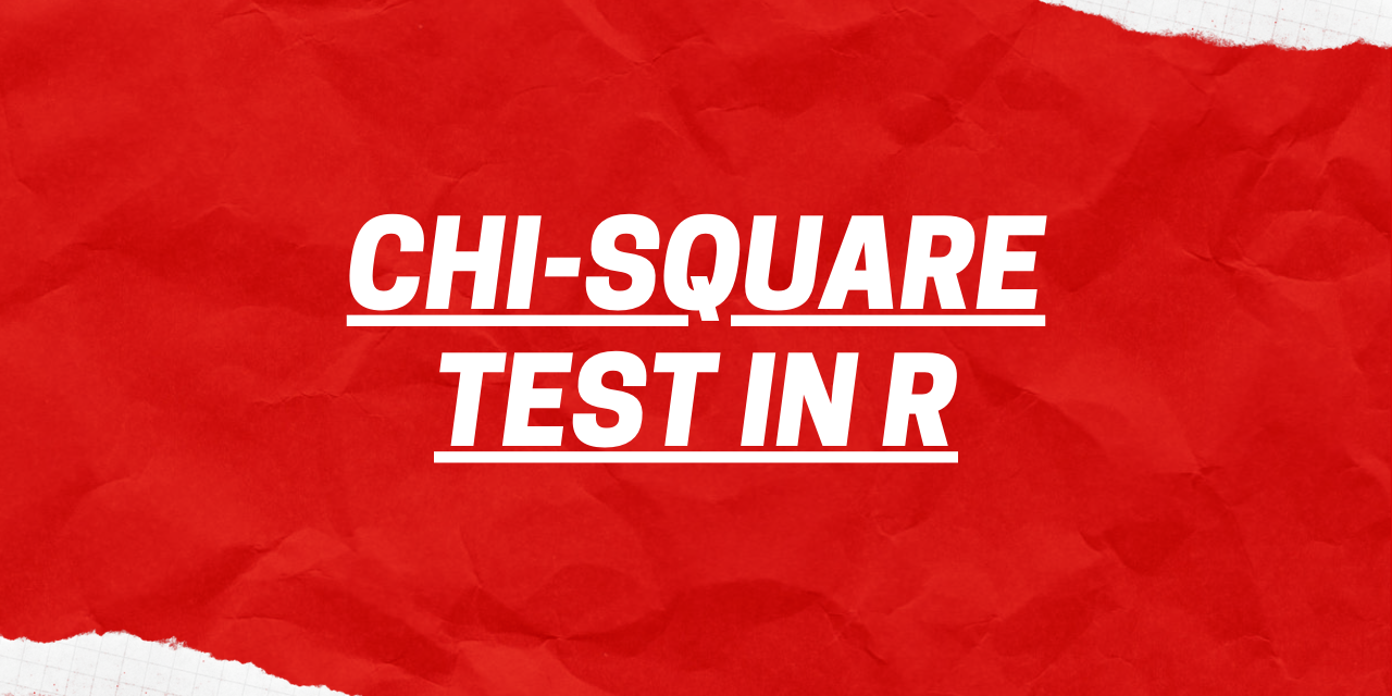 Chi Square Test In R