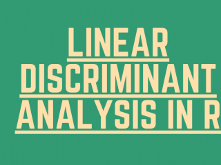 Linear Discriminant Analysis In R
