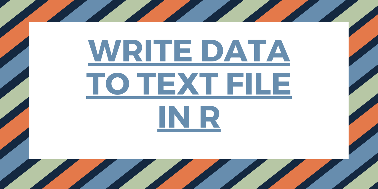 Write Data To Text File In R