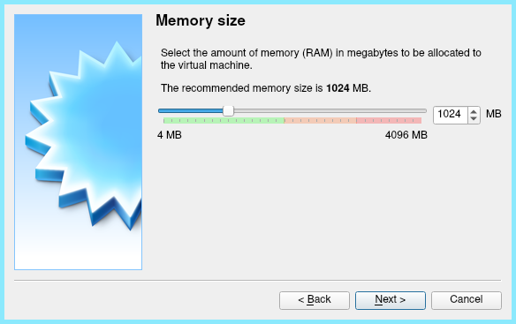 Giving our VM 1GB of RAM install Linux mint on Virtualbox