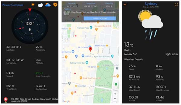 Digital Compass Live Weather & GPS Location App