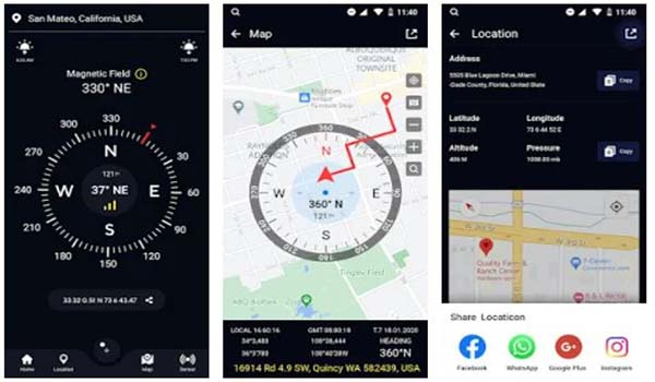 Free Compass For Android GPS Compass Direction