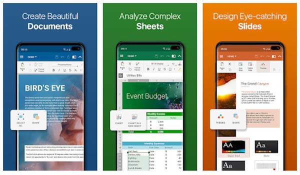 OfficeSuite Word Docs Files, Excel Sheets, PDF Files