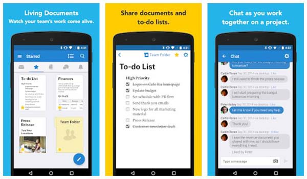Quip Docs, Chat, Spreadsheets